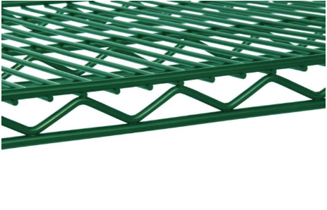green epoxy shelving