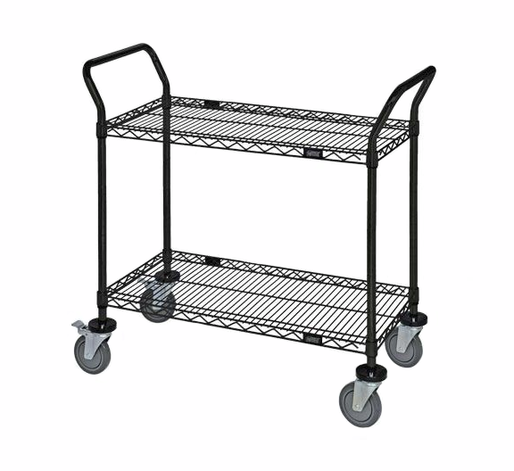 black wire utility cart