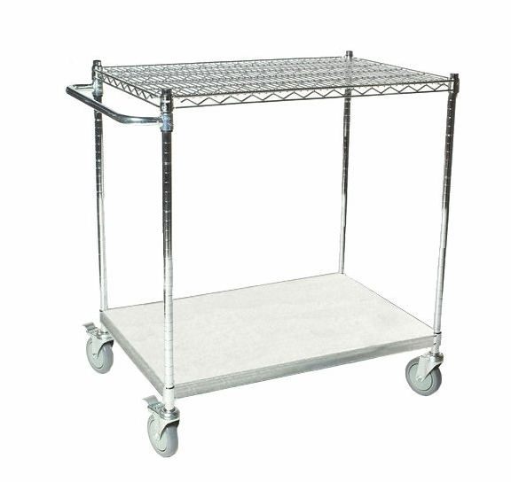 chrome wire utility carts