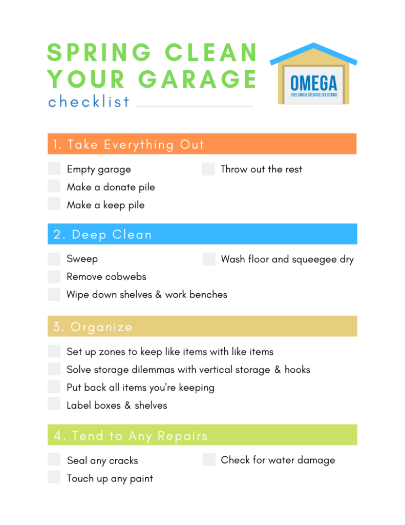 spring clean your garage checklist