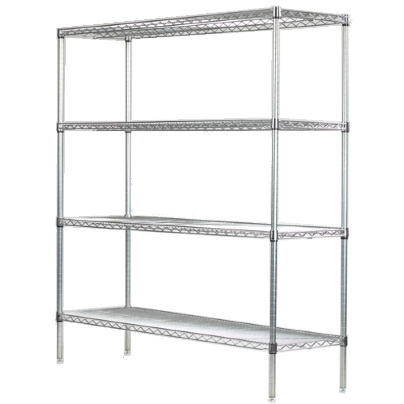 Chrome Wire Shelving by Omega Products Corporation