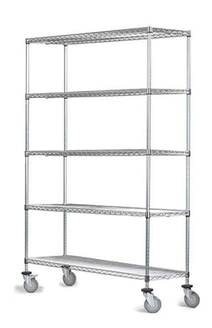 5 tier chrome mobile units - Chrome Wire Shelving