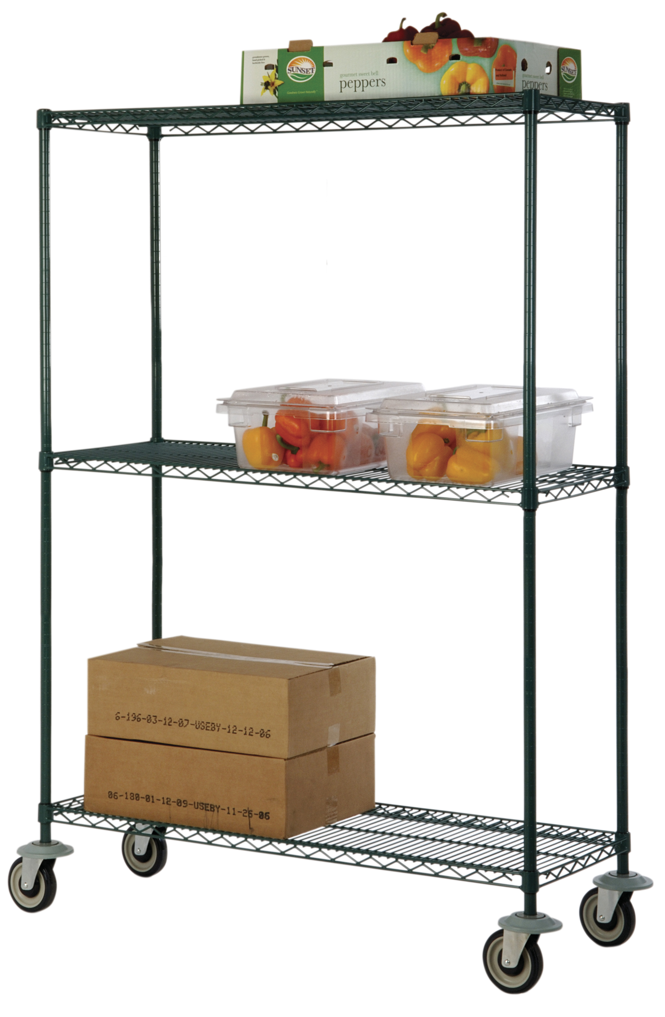 Freezer Wire Shelf Trucks by Omega Products Corporation
