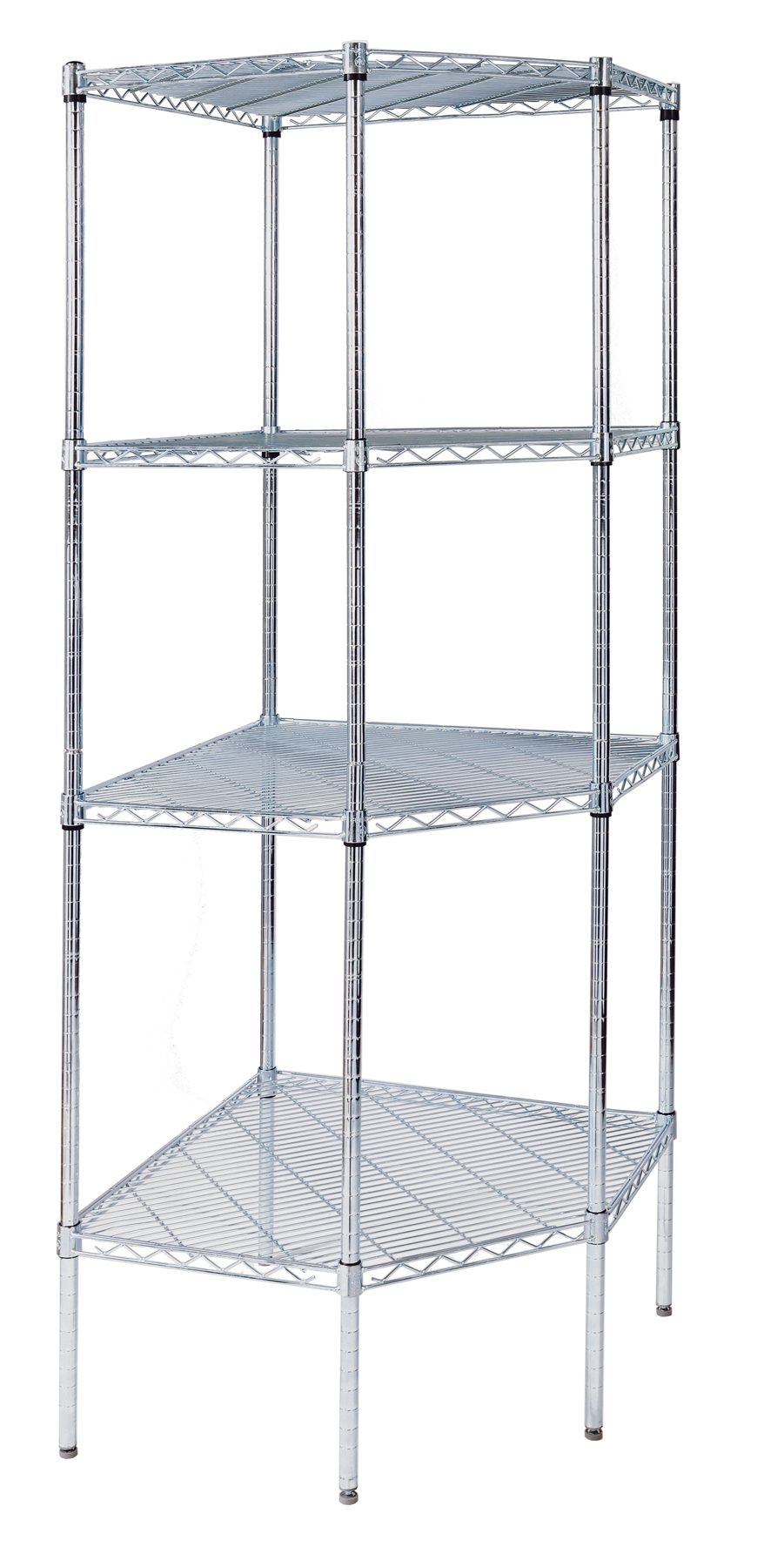 Triangle Wire Shelving · Pentagon Corner Units