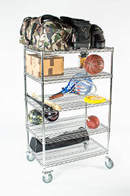 5 Tier Chrome Mobile Shelving Unit