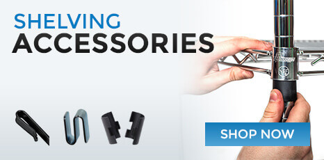 Check out our full line of shelving accessories