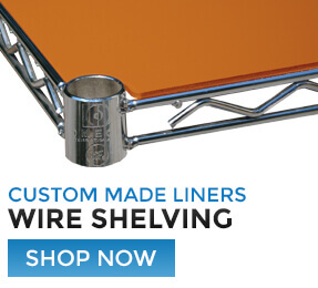 Custom Made Liners for Wire Shelving