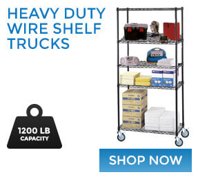 Heavy Duty Wire Shelf Trucks Available Now