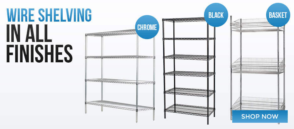 Wire Shelving In All Finishes